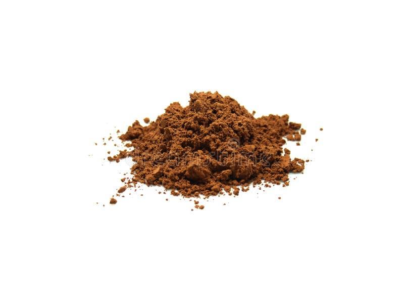 Poudre de cacao de propagation photos libres de droits