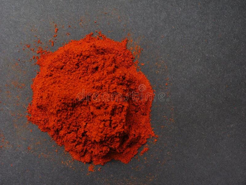 Poudre de paprika photographie stock