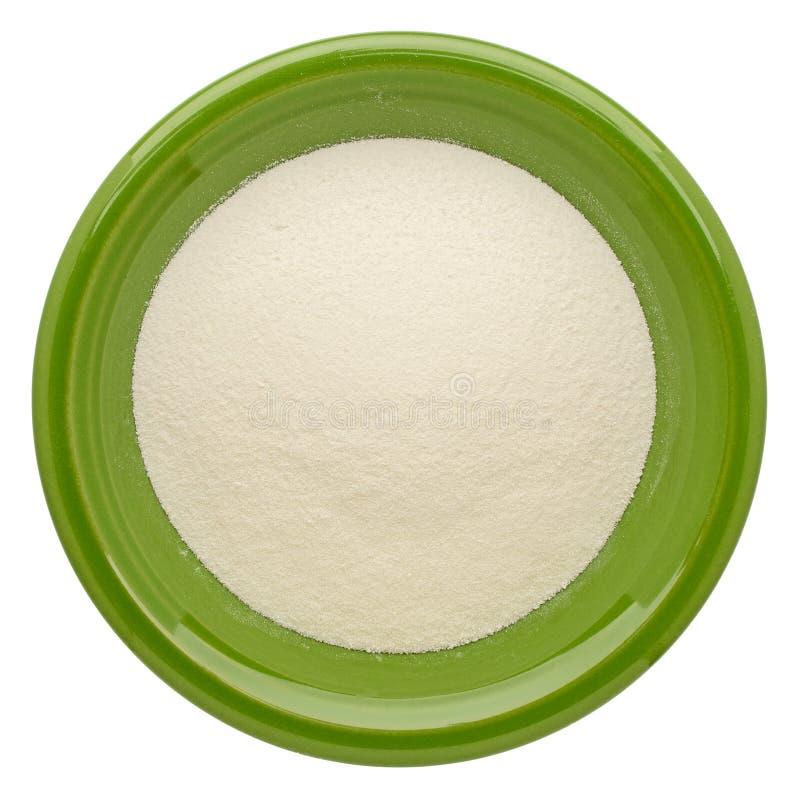 Poudre de protéine de collagène image stock