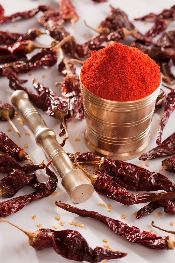 Poudre fraîche rouge. images stock