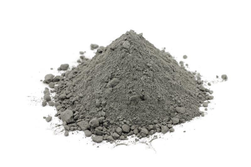 Poudre grise de ciment images stock