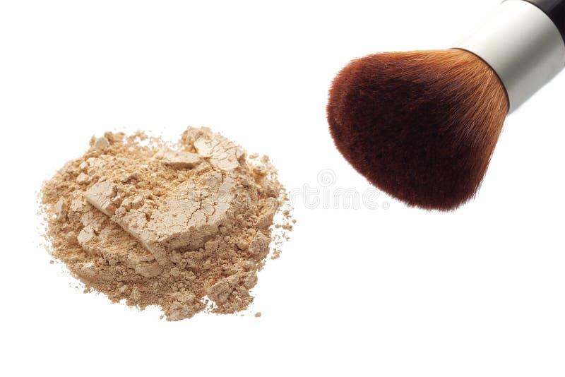 Poudre minérale de maquillage photo stock