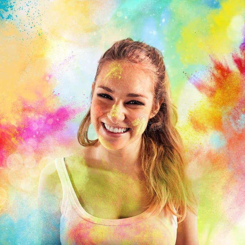 Poudres colorées par joie illustration de vecteur