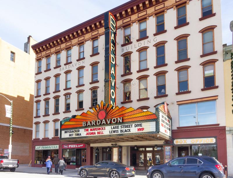 Poughkeepsie, NY / United States - Nov. 29, 2019: an image of  the historic Bardavon 1869 Opera House. The Bardavon 1869 Opera House in the downtown district of stock photos