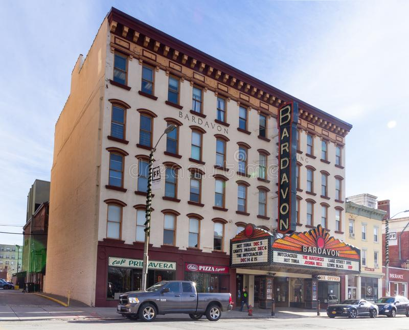 Poughkeepsie, NY / United States - Nov. 29, 2019: an image of  the historic Bardavon 1869 Opera House. The Bardavon 1869 Opera House in the downtown district of stock photography