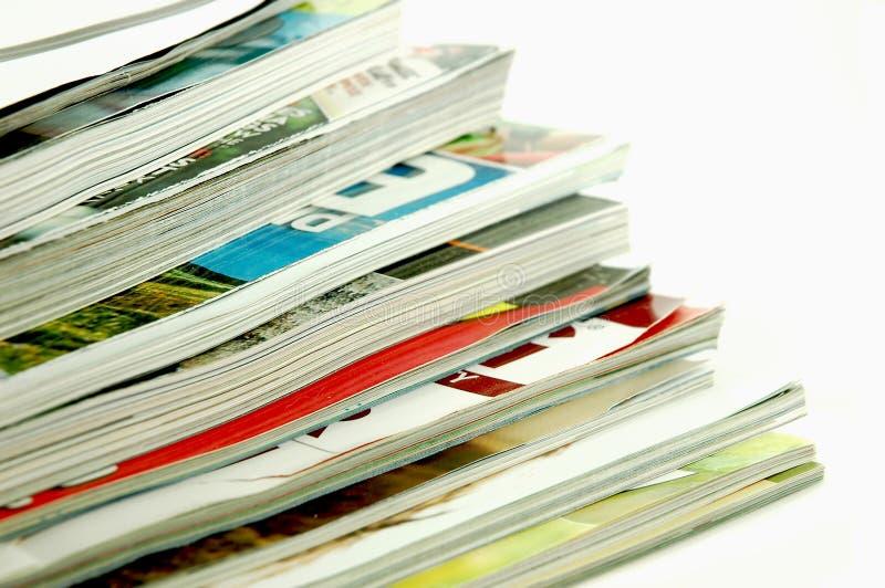 poukładał magazyny, obraz stock