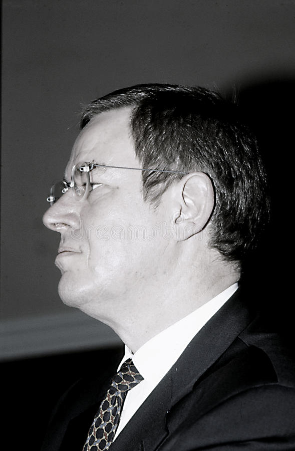 POUL NYRUP RASMUSSEN_DANOSH PRIME MINISTER. Copenhagen/Denmark/ _ 16th January 1996 -Poul Nyryup Rasmussen danish prime minister and social democrat (Photo by royalty free stock image