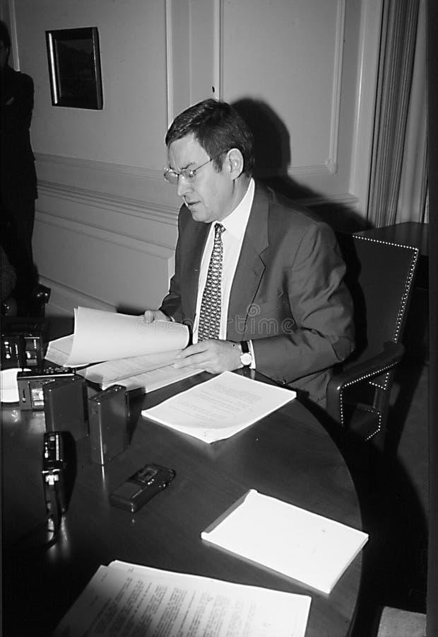 POUL NYRUP RASMUSSEN_DANOSH PRIME MINISTER. Copenhagen/Denmark/ _ 16th January 1996 -Poul Nyryup Rasmussen danish prime minister and social democrat (Photo by stock photo