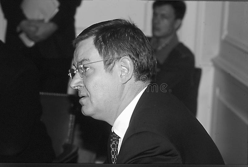 POUL NYRUP RASMUSSEN_DANOSH PRIME MINISTER. Copenhagen/Denmark/ _ 16th January 1996 -Poul Nyryup Rasmussen danish prime minister and social democrat (Photo by stock image