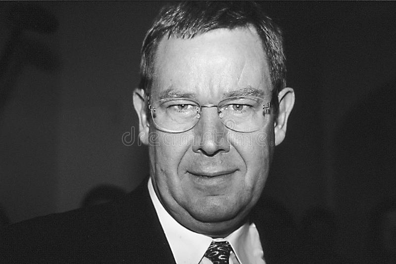 POUL NYRUP RASMUSSEN_DANOSH PRIME MINISTER. Copenhagen/Denmark/ _ 10th September 1997 -Poul Nyryup Rasmussen danish prime minister and social democrat (Photo by stock images