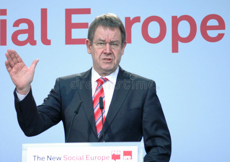 Poul Nyrup Rasmussen. MARCH 24, 2007 - Poul Nyrup Rasmussen at a meeting of European Social Democrats in the Willy Brandt House in Berlin royalty free stock photo