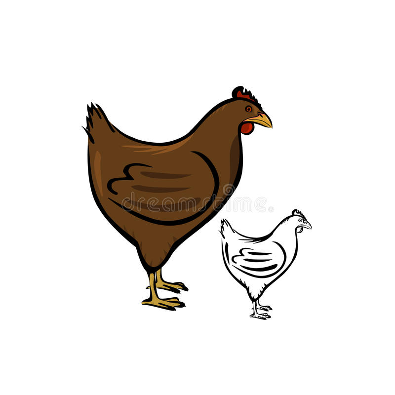 poule illustration de vecteur
