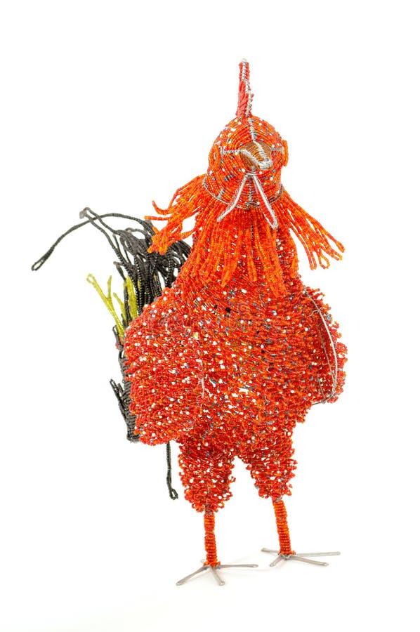 Poule décorative de Beadwork photos stock