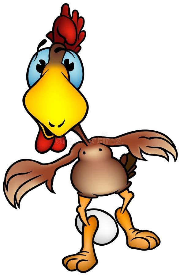 poule d'oeufs illustration libre de droits