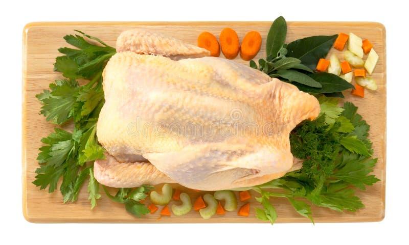Poule et légumes image stock