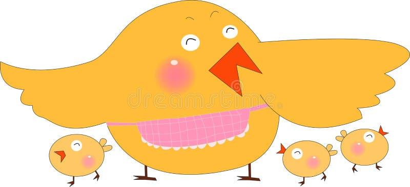 Poule et nana illustration libre de droits
