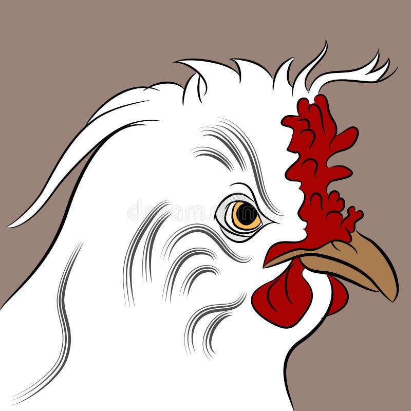 Poule Fluffed illustration libre de droits