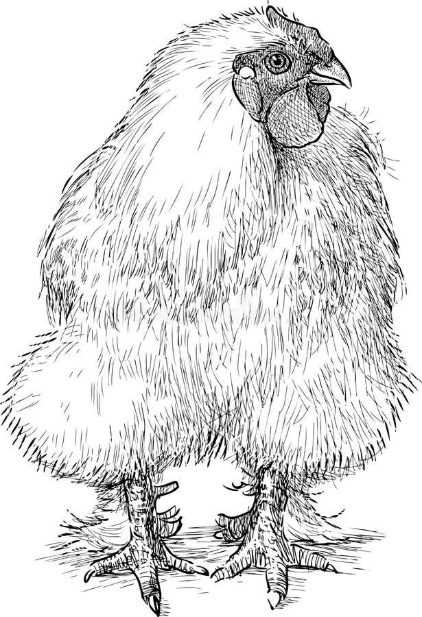 Poule pelucheuse illustration de vecteur