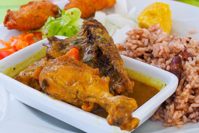 Poulet科伦坡,加勒比岛鸡食谱  库存图片