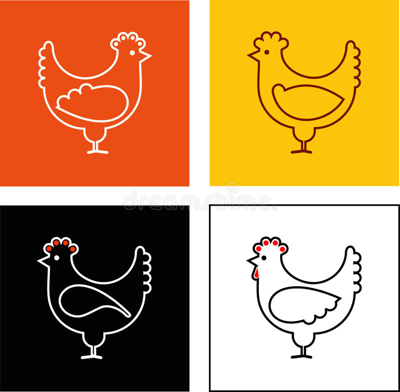 Poulet illustration stock