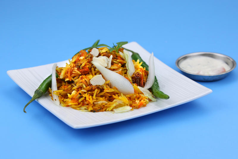 Poulet Biryani photo stock