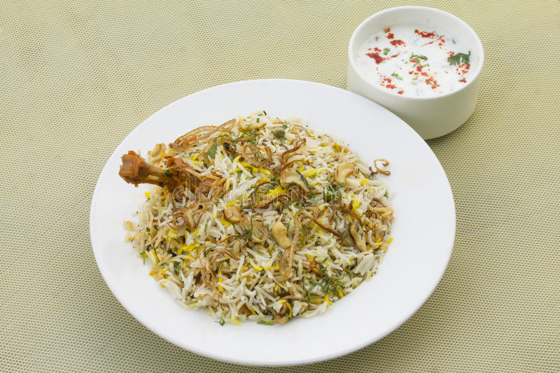 Poulet Biryani de Hyderabad photo stock