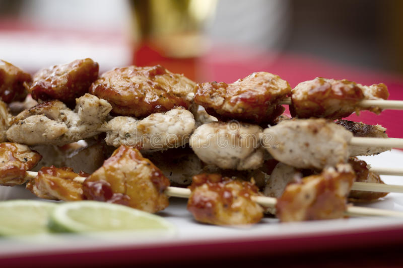 Poulet Brochette photo stock