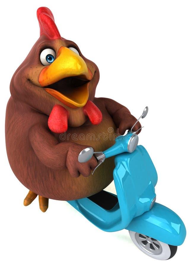 Poulet d'amusement - illustration 3D illustration stock