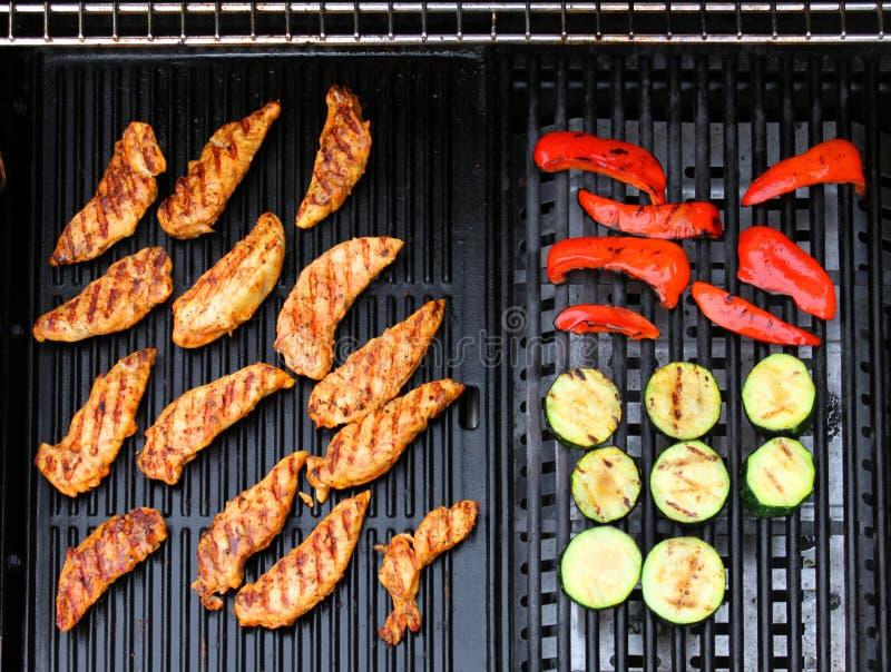 Poulet de barbecue images libres de droits