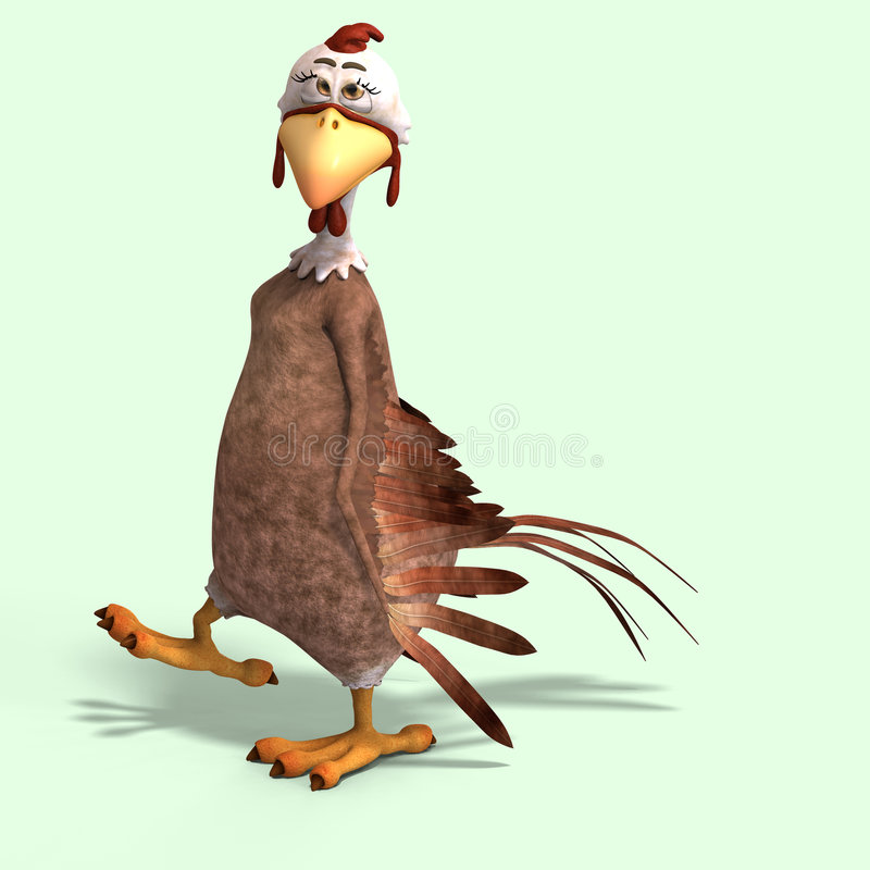 poulet de dessin animé fou illustration stock