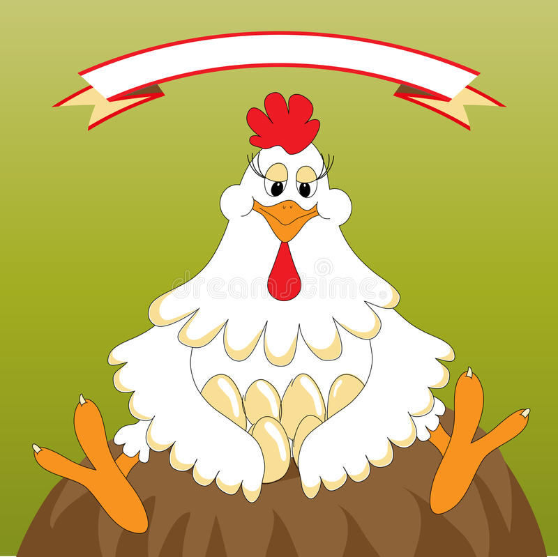 Poulet drôle illustration stock