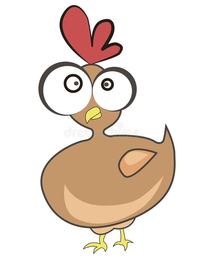 Poulet dr le de dessin anim illustration de vecteur illustration du oiseau illustration - Dessin de poulet roti ...