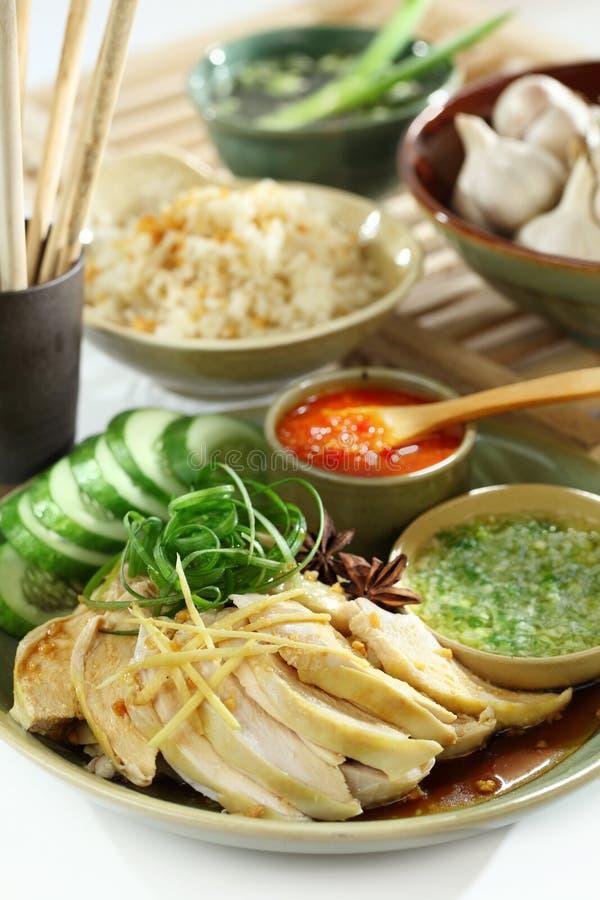 Poulet et riz asiatiques de nourriture photographie stock libre de droits