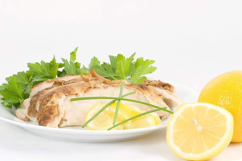 Poulet froid de citron de service images stock