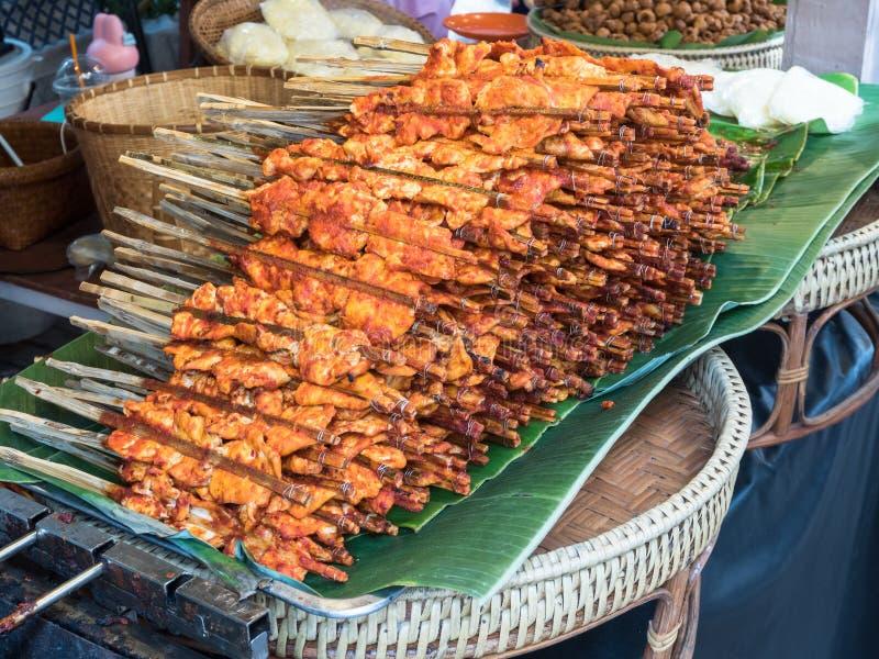 Poulet grillé en sauce épicée photographie stock