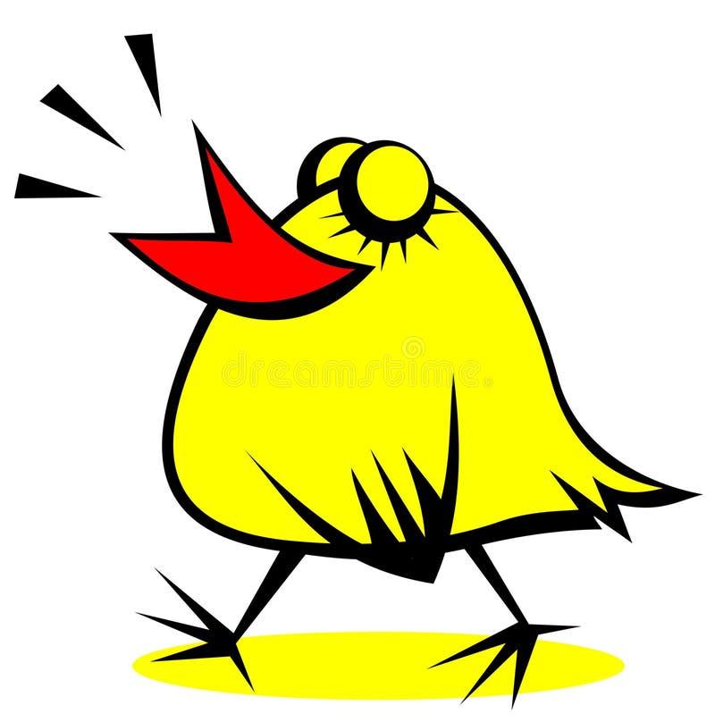 poulet heureux illustration stock
