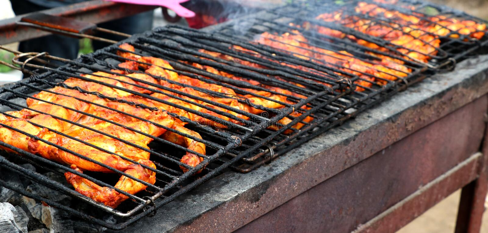 Poulet indien de BBQ photo stock