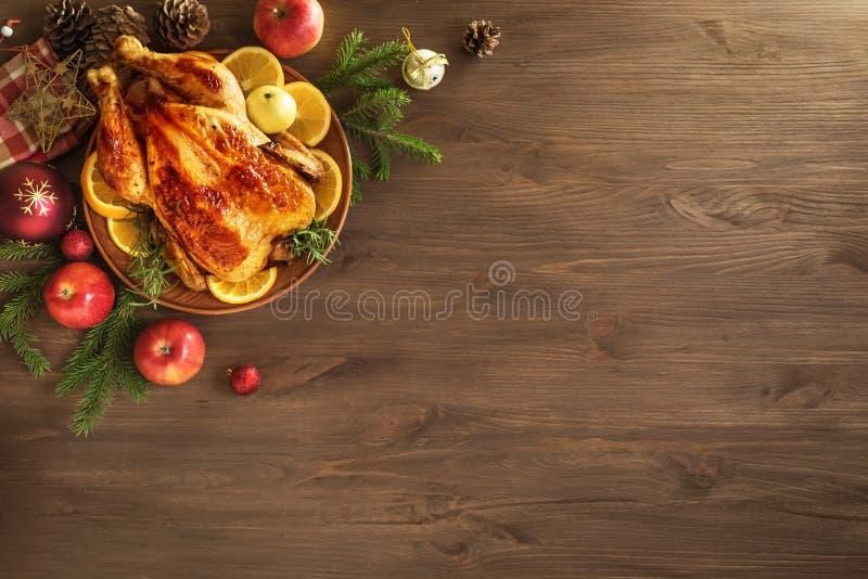 Poulet ou la Turquie de Noël photos stock