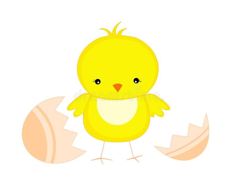 poulet Pâques de nana illustration stock