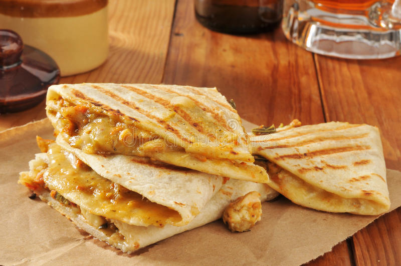 Poulet Quesadillas images stock