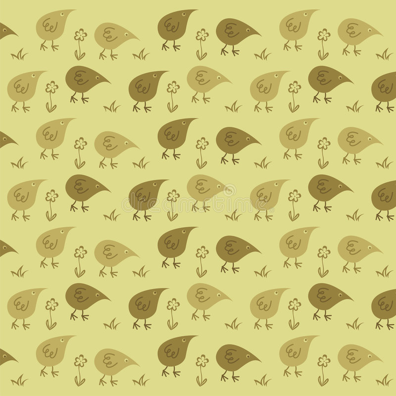 Poulets drôles illustration stock