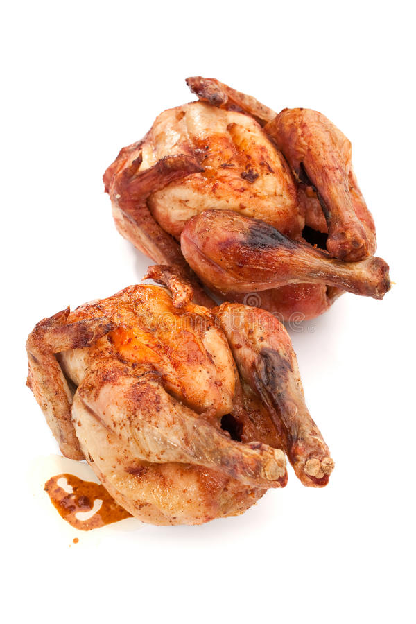 Poulets grillés entiers photographie stock libre de droits