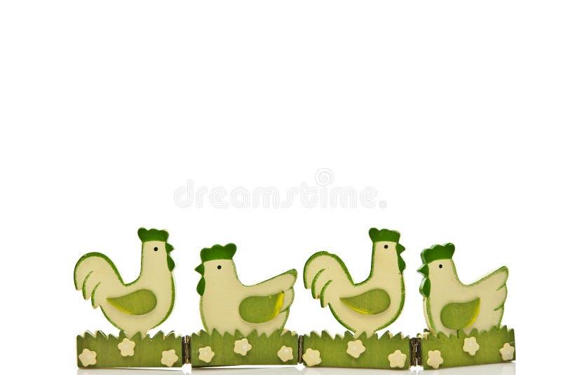 Poulets verts de Pâques images libres de droits