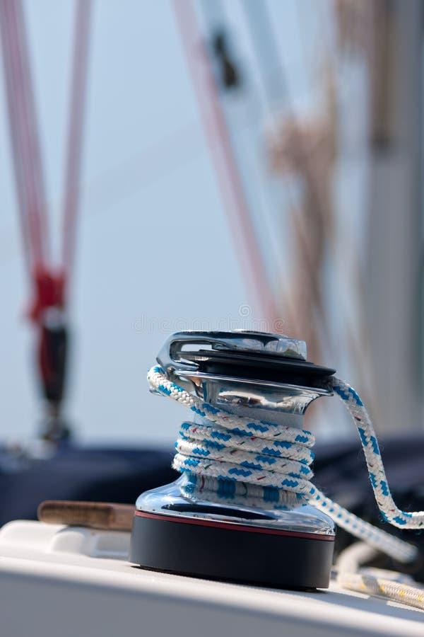 Poulie de yacht images libres de droits