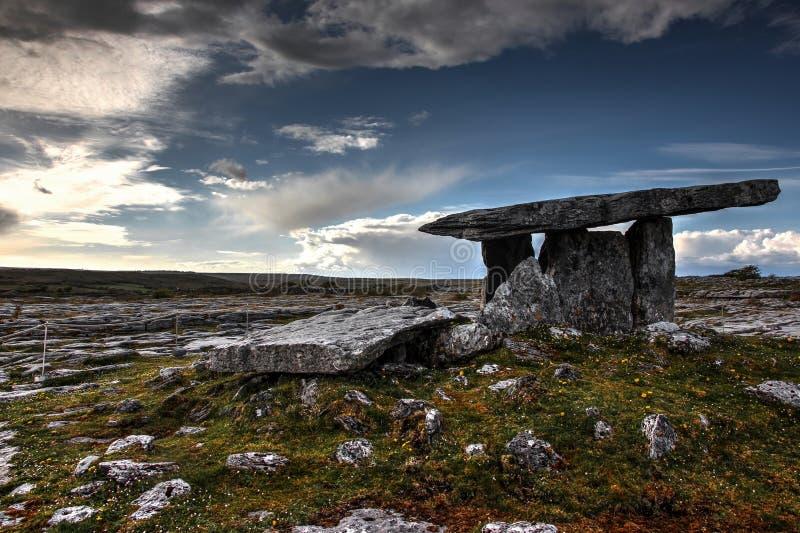 Poulnabrone dolmen zdjęcia stock