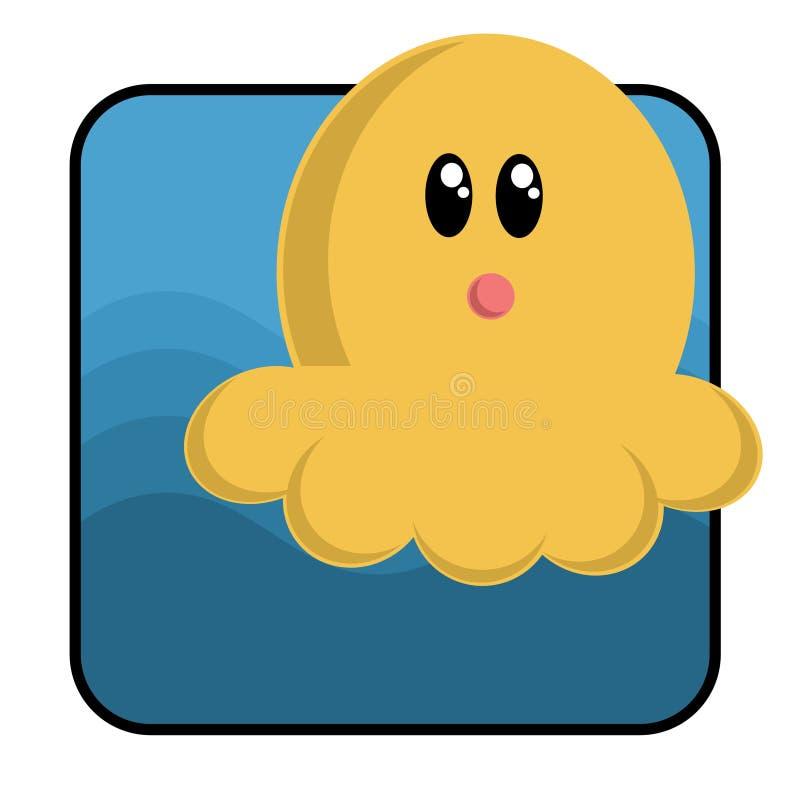 Download Poulpe de dessin animé illustration de vecteur. Illustration du océan - 743747