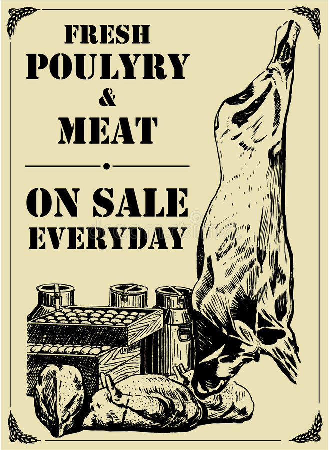 Poultry & Meat Sin Stock Images