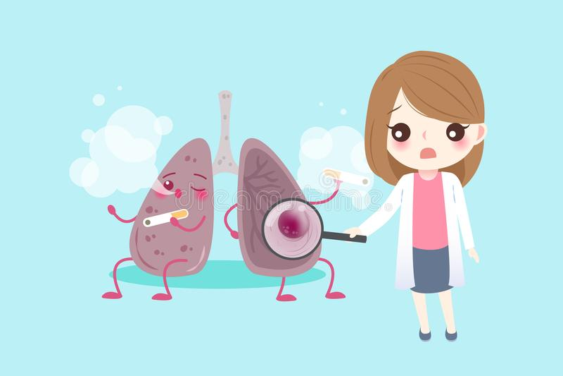 Poumon avec le concept de santé illustration stock
