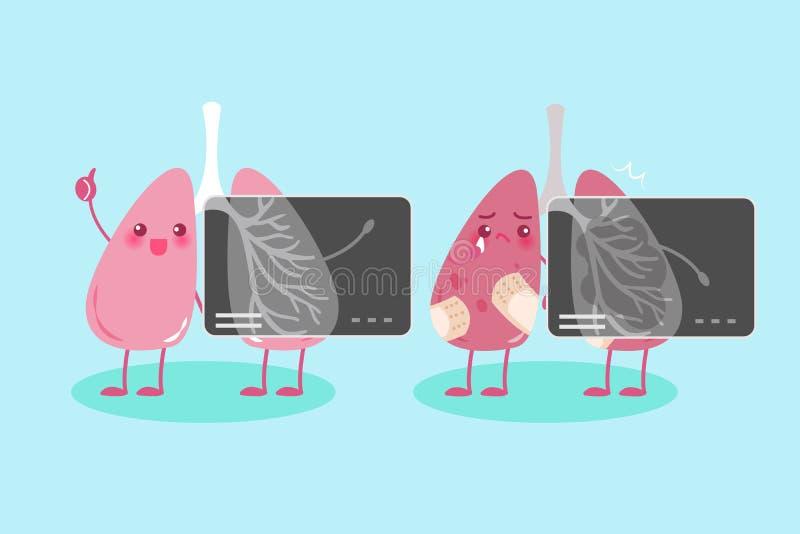 Poumon avec le conept de santé illustration libre de droits