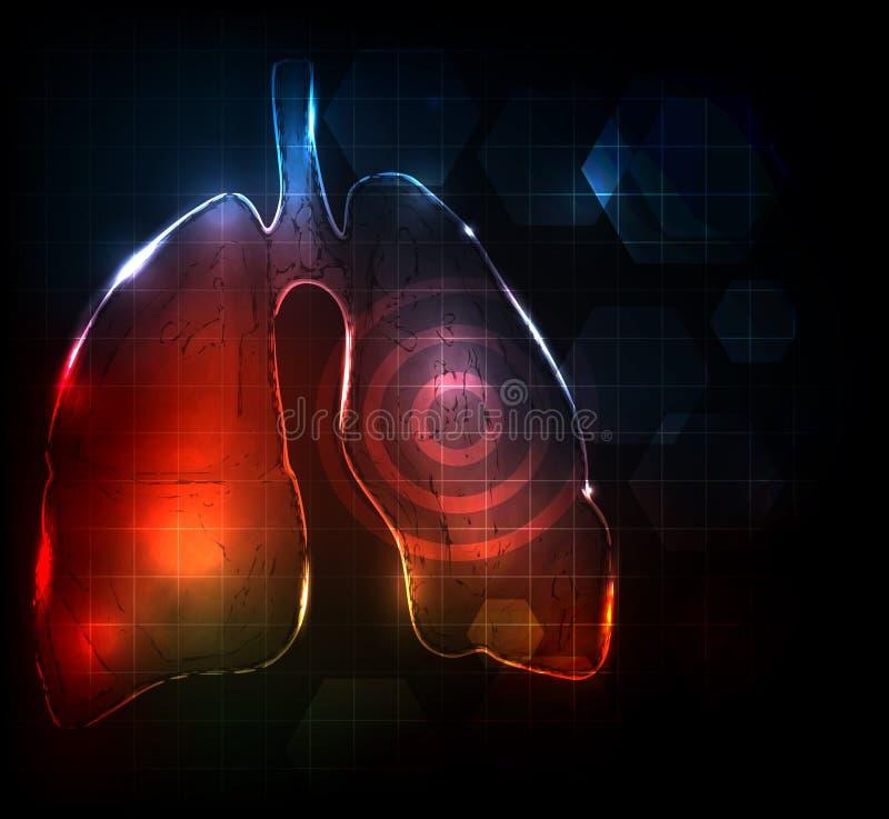 Poumons abstraits illustration de vecteur